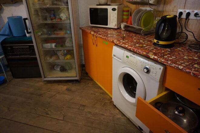 宿の洗濯機