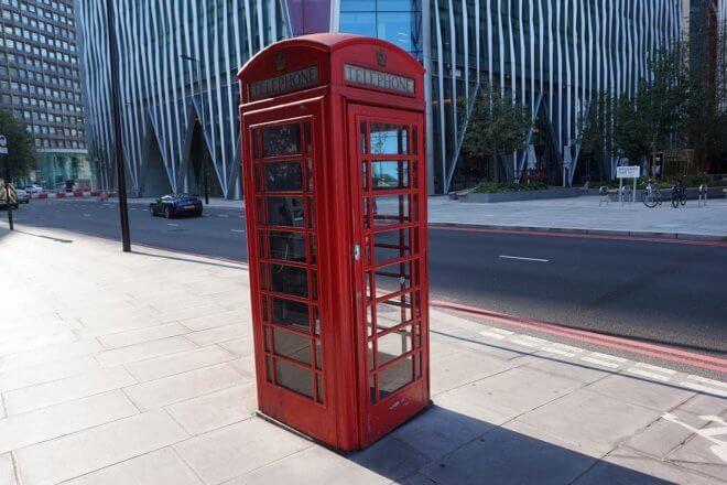 イギリス・ロンドンの電話ボックス