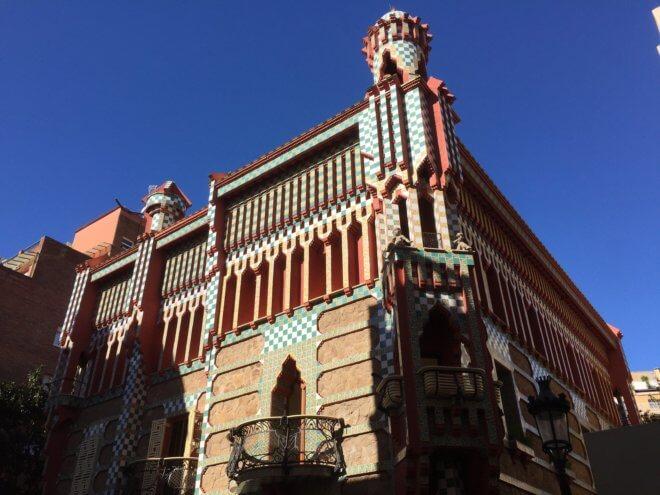 ガウディ建築作品のカサ・ビセンスを旅行で見た
